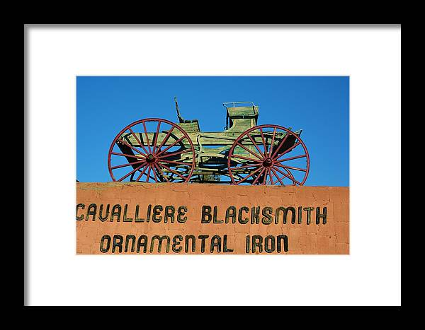 Wagon Framed Print featuring the photograph Cavalliere Blacksmith by Richard Jenkins