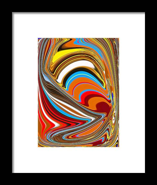 Framed Print featuring the digital art Cave In by Bob Riggs