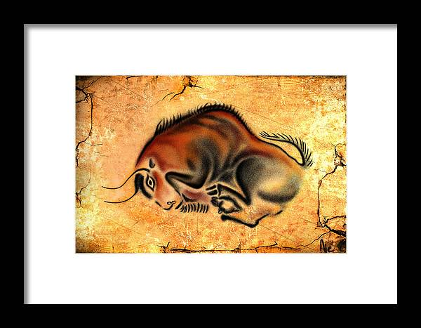 Cave Painting Framed Print featuring the drawing Cave Painting by Alessandro Della Pietra
