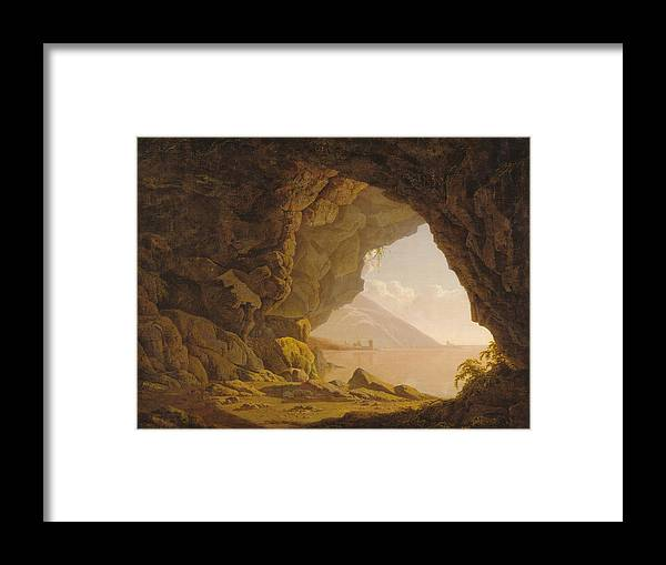 Cave Framed Print featuring the painting Cave by R-A Kaka
