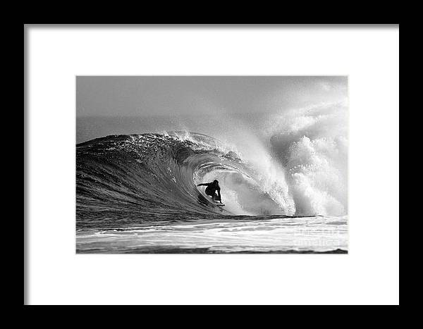 Surf Framed Print featuring the photograph Caveman by Paul Topp