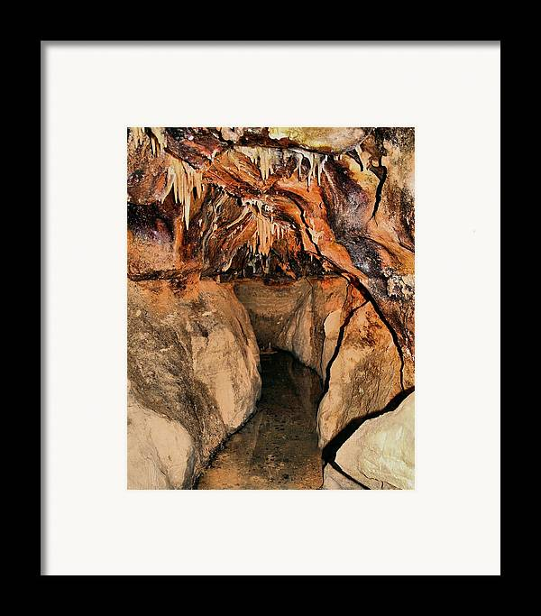 Caverns Framed Print featuring the photograph Cavern Path by Dan Sproul