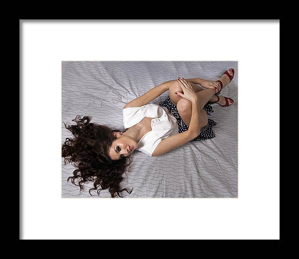 Model Framed Print featuring the photograph Caylee 2 by Joel Gilgoff
