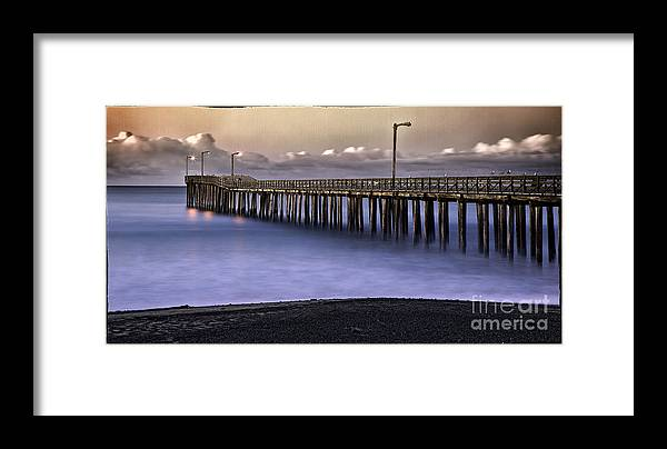 Pier. Piers Framed Print featuring the photograph Cayucos Mist by James A Crawford