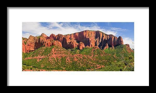 Arid Framed Print featuring the photograph Cedar Breaks Park Panorama by Jeffrey Banke