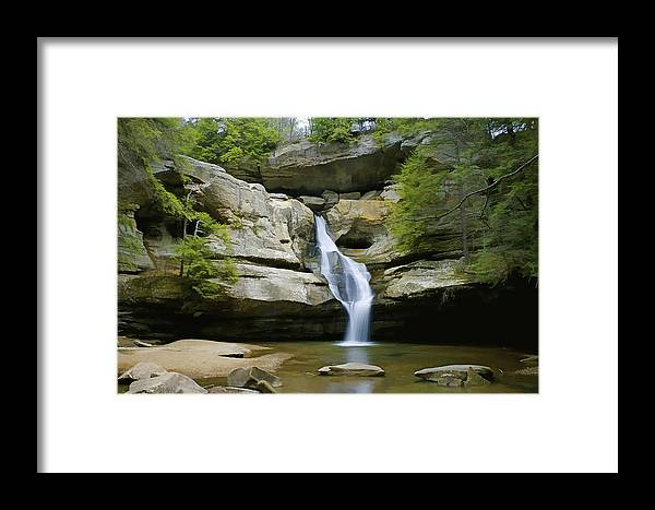Area Framed Print featuring the photograph Cedar Falls by Jack R Perry