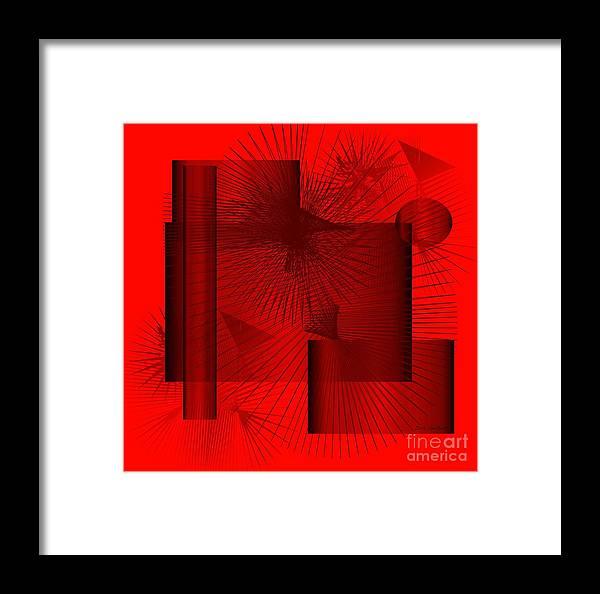 Abstract Framed Print featuring the digital art Celebration by Iris Gelbart