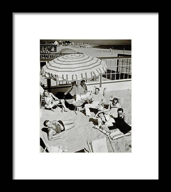 Actor Framed Print featuring the photograph Celebrities On A Beach by Edward Steichen