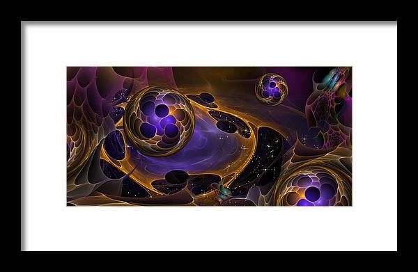 Phil Sadler Framed Print featuring the digital art Cell Forms 2 by Phil Sadler
