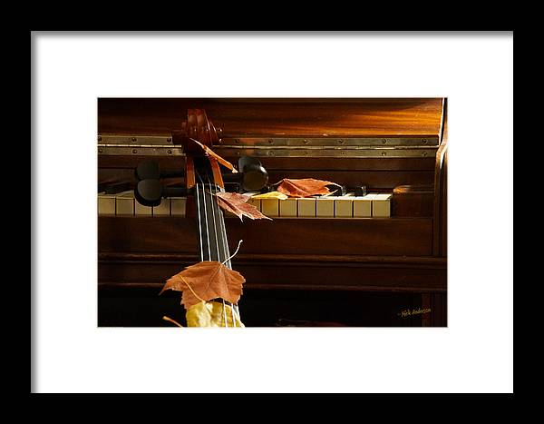Cello Framed Print featuring the photograph Cello Autumn 2 by Mick Anderson