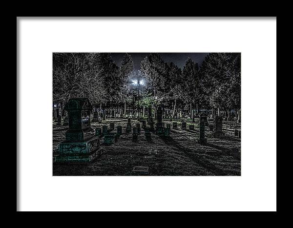 Landscape Framed Print featuring the photograph Cemetery by Ray Congrove