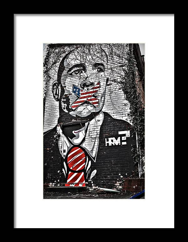 Censorship Expressed Framed Print featuring the photograph Censorship Expressed Mural by Brian Archer