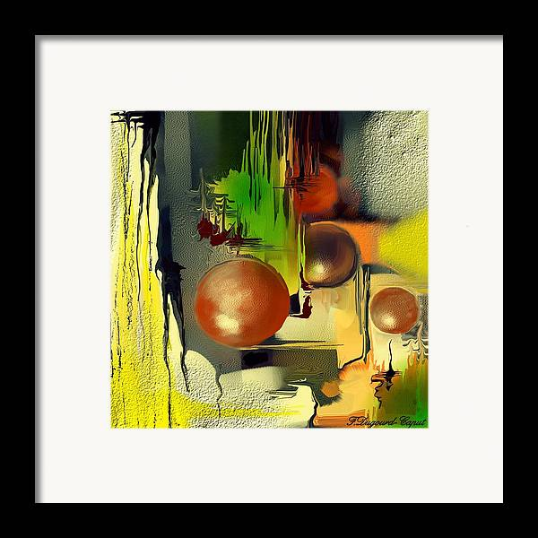 Abstract Framed Print featuring the painting Centaure by Francoise Dugourd-Caput