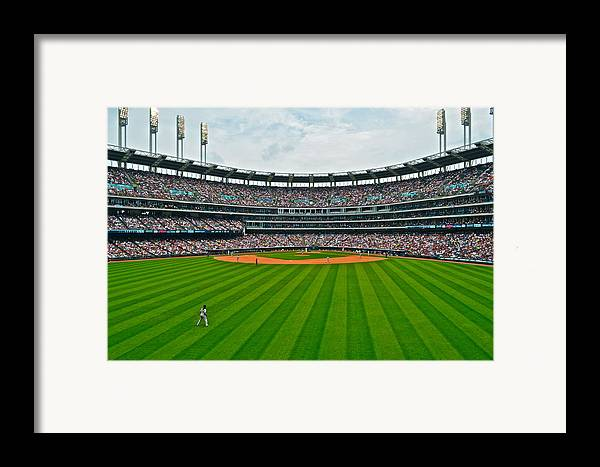 Centerfield Framed Print featuring the photograph Center Field by Frozen in Time Fine Art Photography