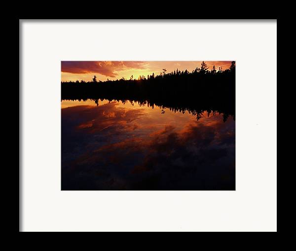 Center Pond Framed Print featuring the photograph Center Pond Baxter State Park by Tim Canwell