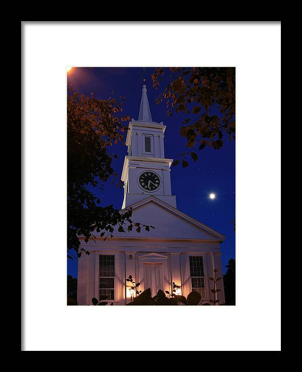 Cape Cod Framed Print featuring the photograph Centerville Church by David DeCenzo