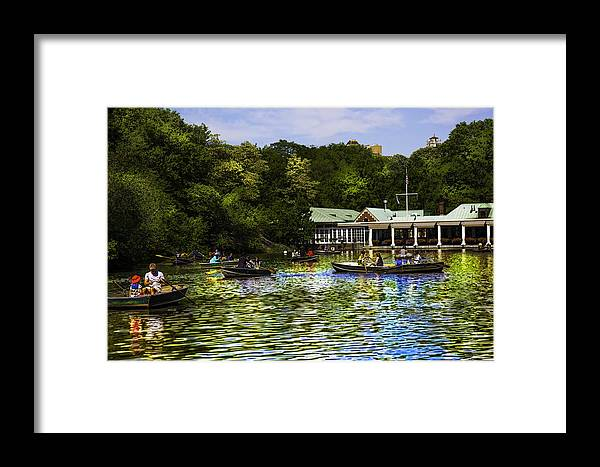 Central Park Framed Print featuring the photograph Central Park Boathouse by Madeline Ellis