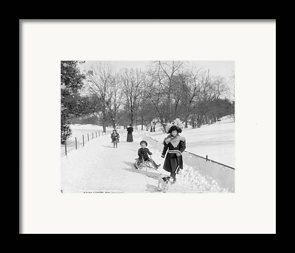 Central Park Framed Print featuring the photograph Central Park In New York by Anonymous