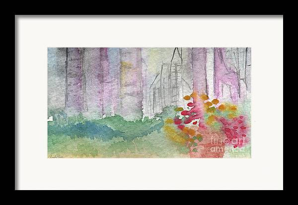Garden Framed Print featuring the painting Central Park by Linda Woods