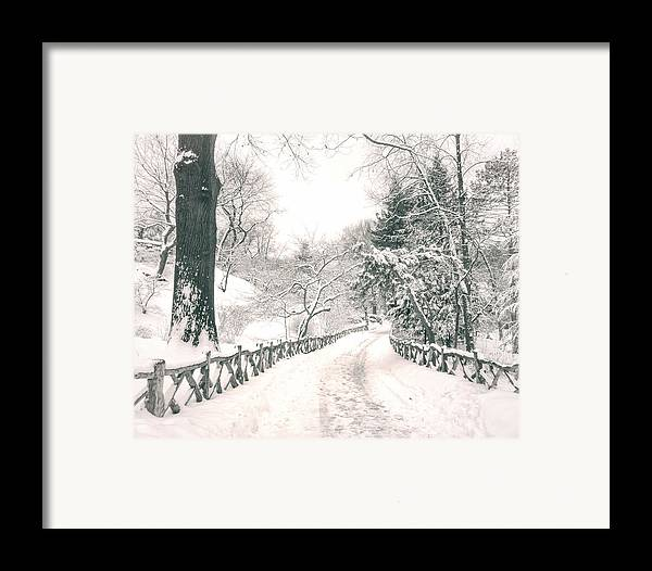 Nyc Framed Print featuring the photograph Central Park Winter Landscape by Vivienne Gucwa
