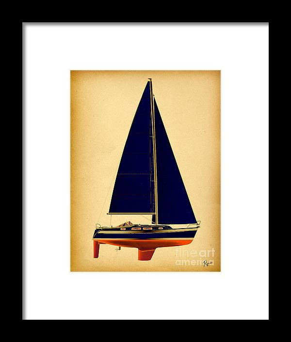 Regina Gallant Framed Print featuring the drawing Ceq Black Sails by Regina Marie Gallant