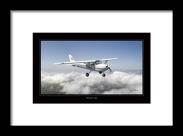 Cessna 152 Framed Prints Framed Print featuring the photograph Cessna 152 by Larry McManus