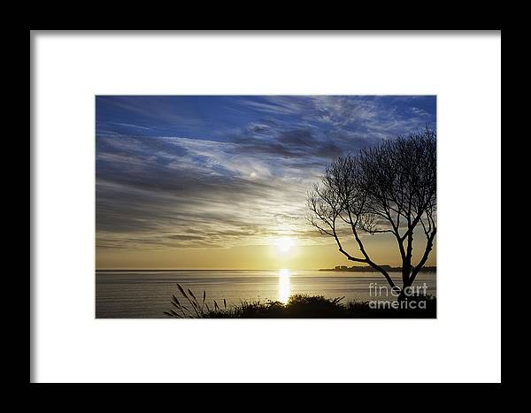 Print Framed Print featuring the photograph cf 519 A Sunset Over Monterey Bay by Chris Berry