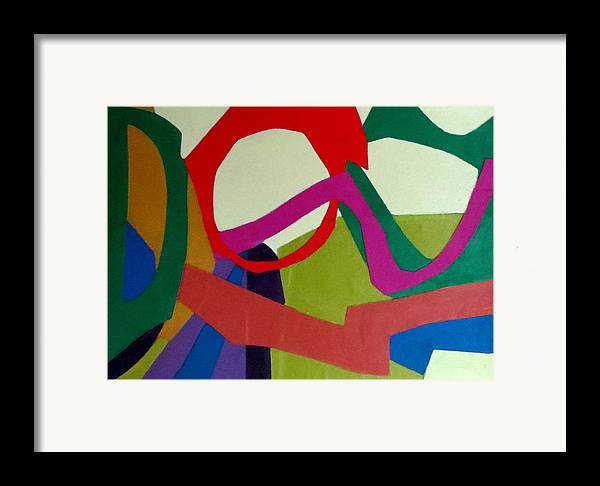 Abstract Expressionism Framed Print featuring the mixed media Cha Cha by Diane Fine