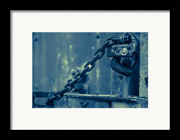 Train Framed Print featuring the photograph Chained And Moody by Toni Hopper