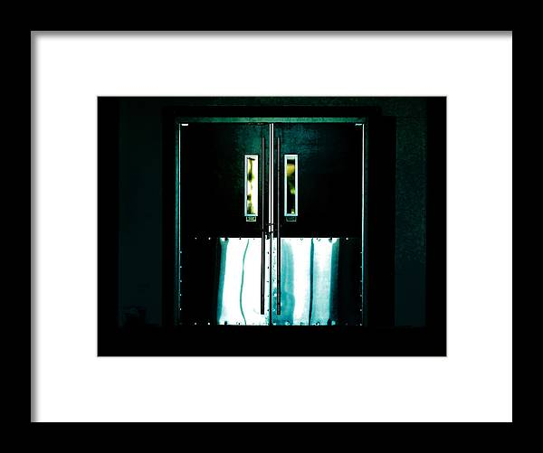 Door Framed Print featuring the photograph Chained Shut by Steve Taylor