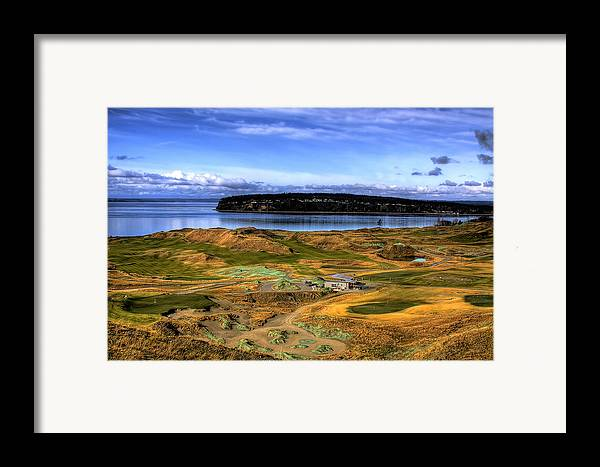 Chambers Bay Golf Course Framed Print featuring the photograph Chambers Bay Golf Course by David Patterson