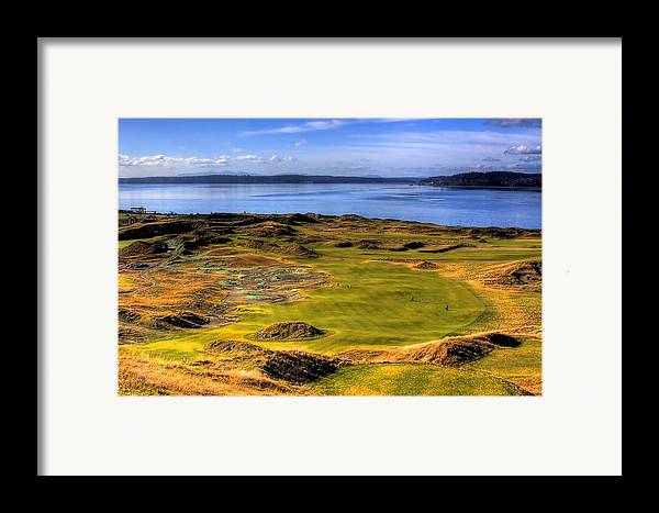 Chambers Bay Golf Course Framed Print featuring the photograph Chambers Bay Golf Course II by David Patterson