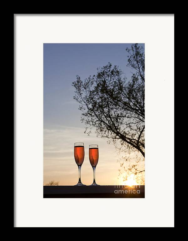 Champagne Framed Print featuring the photograph Champagne For Two by Kay Pickens