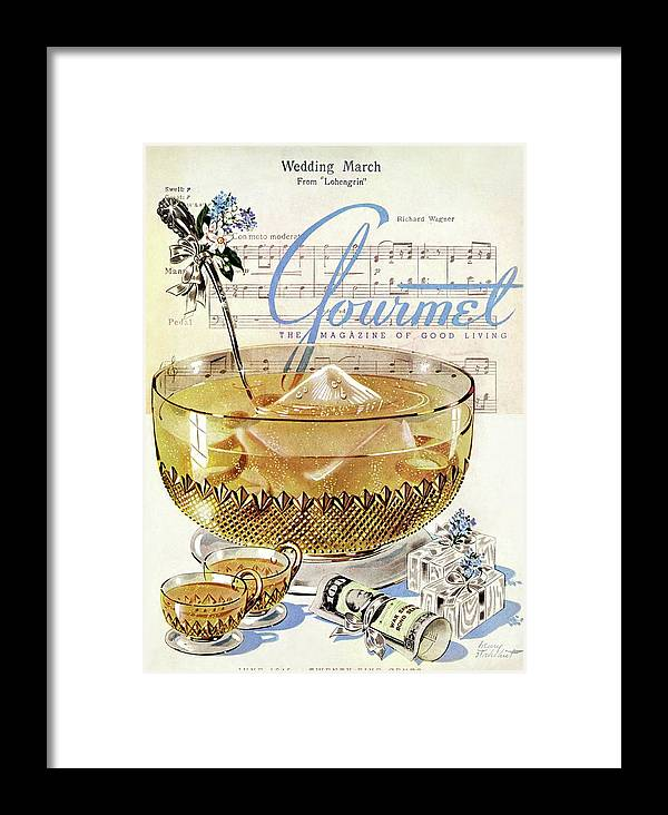 Illustration Framed Print featuring the photograph Champagne Punch And The Wedding March by Henry Stahlhut