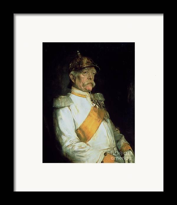 Chancellor Otto Von Bismarck Framed Print featuring the painting Chancellor Otto Von Bismarck by Franz Seraph von Lenbach