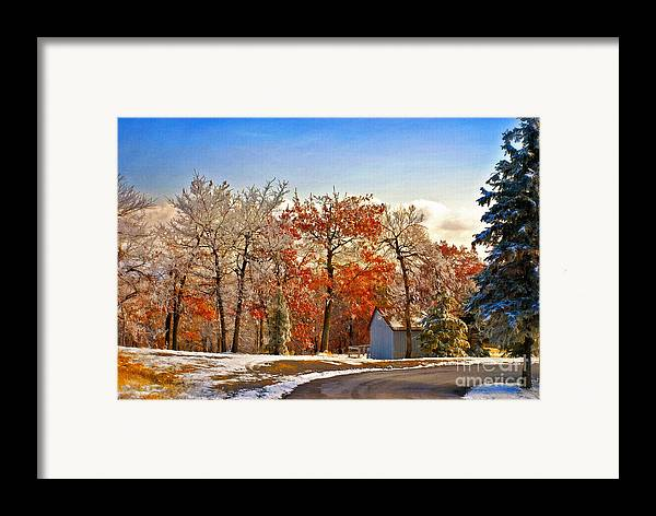 Landscape Framed Print featuring the photograph Change Of Seasons by Lois Bryan