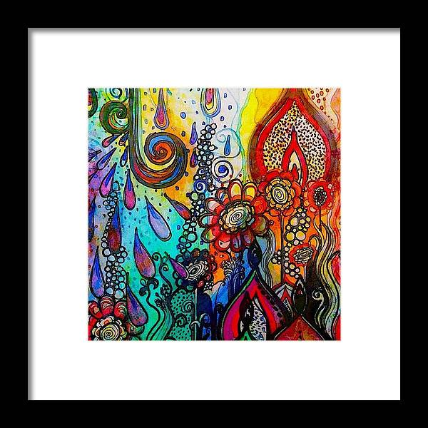 Art Framed Print featuring the photograph Changes ... #watercolor #doodle #fun by Robin Mead
