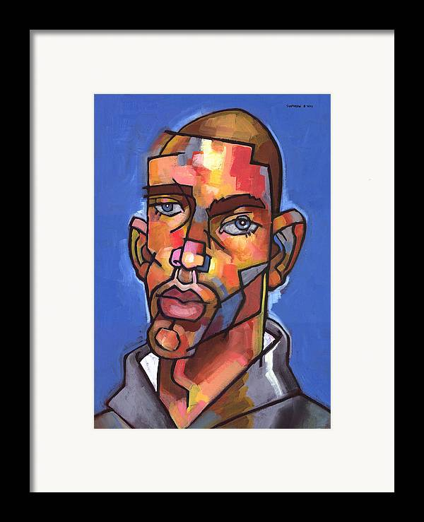Portrait Framed Print featuring the painting Channing by Douglas Simonson