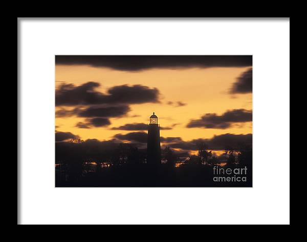 Chantry Framed Print featuring the photograph Chantry Island Lighthouse - Fs000819 by Daniel Dempster