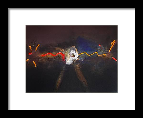 Chaos Fairground Ride Framed Print featuring the painting Chaos Ride by Charles Stuart