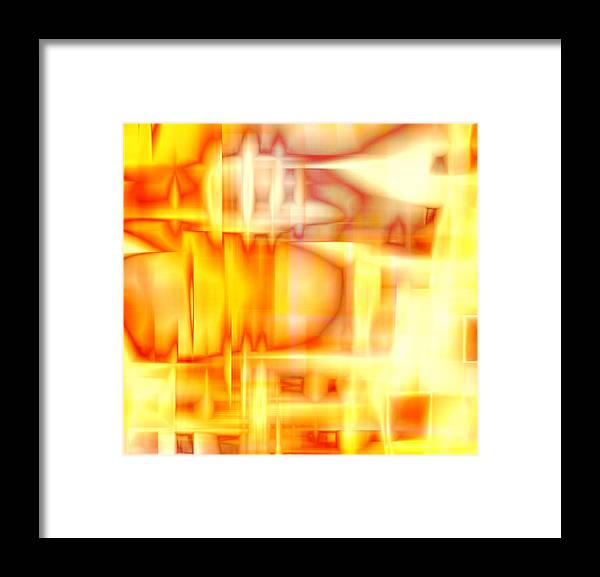 Chaos Sun Framed Print featuring the digital art Chaos Sun by Devalyn Marshall