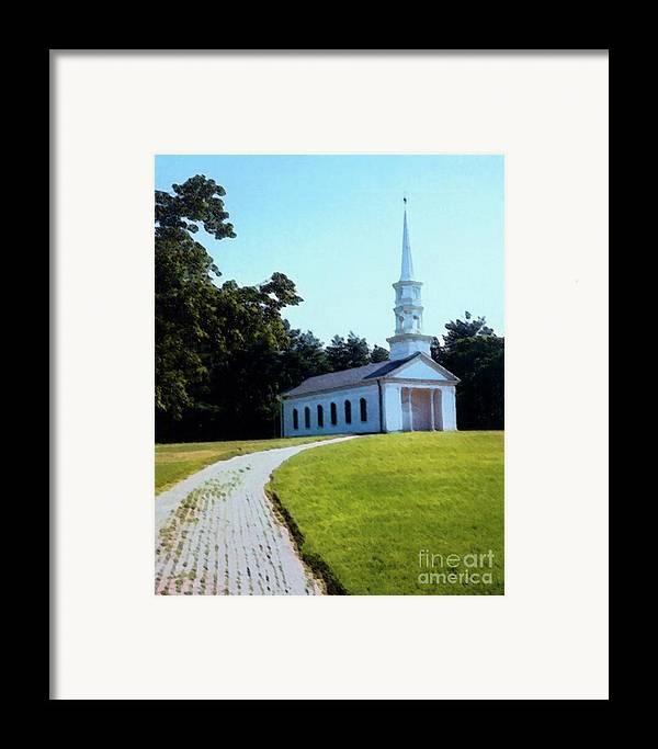 Church Framed Print featuring the photograph Chapel At The Wayside Inn by Desiree Paquette