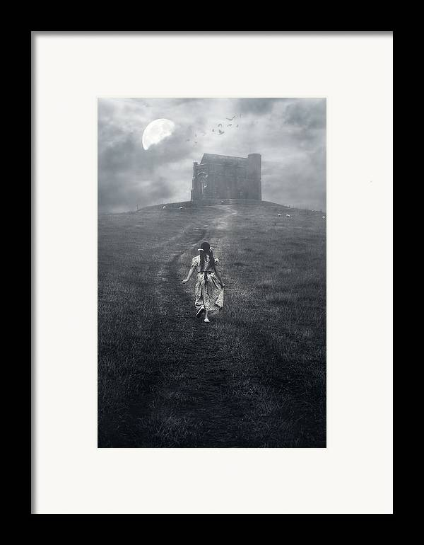 Girl Framed Print featuring the photograph Chapel In Mist by Joana Kruse