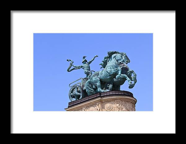 Ancient Framed Print featuring the photograph Chariot On Millennium Monument by Stephan Stockinger