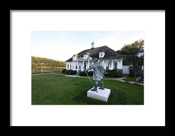 Charles Darwin Framed Print featuring the photograph Charles Darwin Statue Cold Spring Harbor New York by Bob Savage
