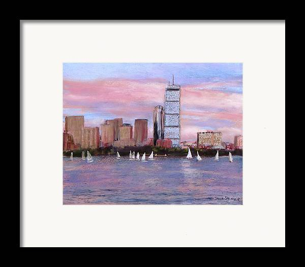 Boston Framed Print featuring the painting Charles River Boston by Jack Skinner