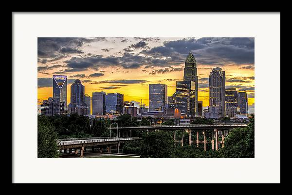 Charlotte Framed Print featuring the photograph Charlotte Dusk by Chris Austin