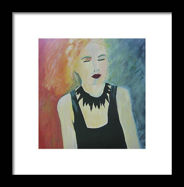 Portrait Framed Print featuring the painting Charlotte by Ingrid Torjesen