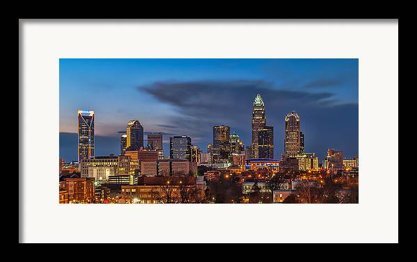 Charlotte Framed Print featuring the photograph Charlotte North Carolina by Brian Young