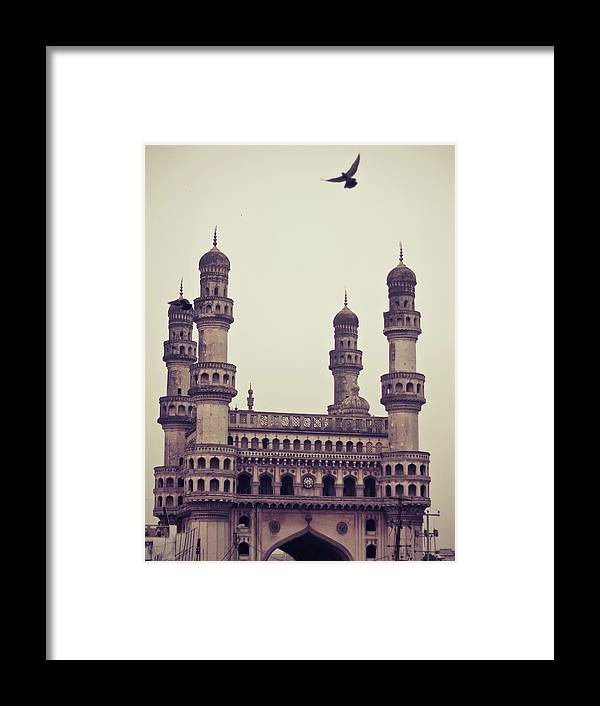 Tranquility Framed Print featuring the photograph Charminar And The Pigeon by © Manogna Reddy